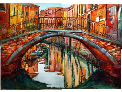 Venice painting cityscape