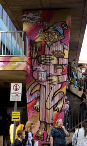 UK street art mural painting