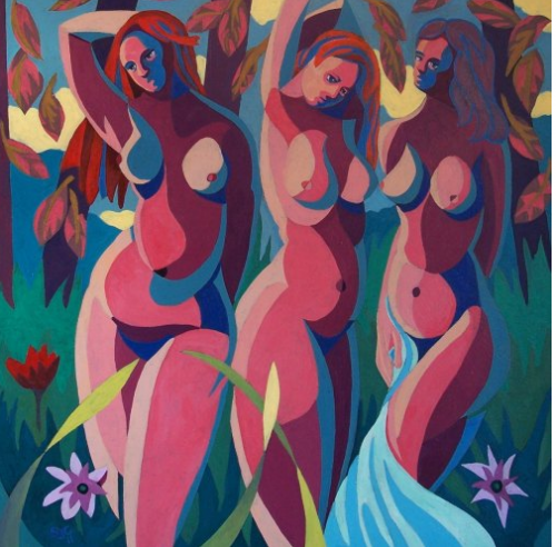 The Three Graces Painting by UK artist Stephen Conroy