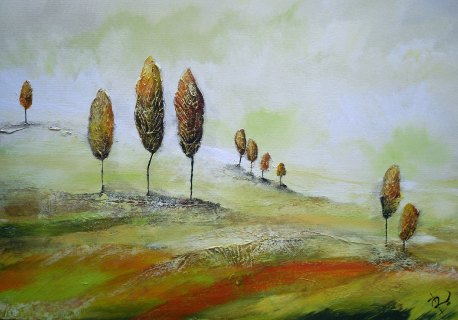 A Hazy Autumn Day by Irina Rumyantseva