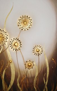 Gold Mocha Allium by Victoria Stothard