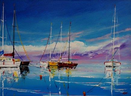 Yachts and Boats III by Miroslav Stojkovic