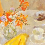 Summer Still Life with Yellow Duster 1 by Lynne Cartlidge