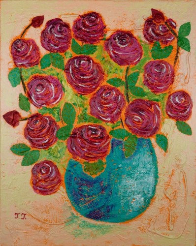 Rose Bouquet by Teodora Totorean