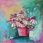 Coneflowers by Gillian Mowbray