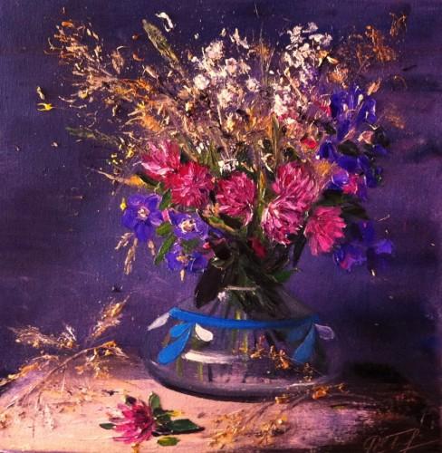Field Flowers in a Vase by Alena Rumak