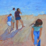 Children on the Beach. To the Sea! by Mary Kemp