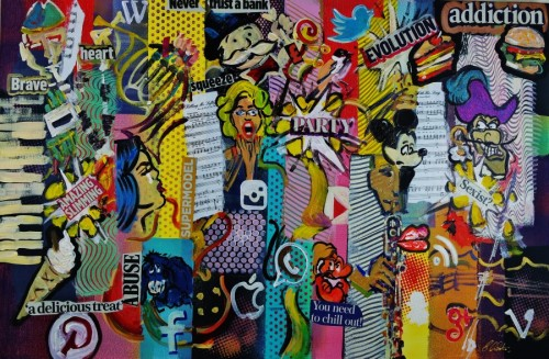 Pop-Art Cubist Social Media Art 866 by Eraclis Artistidou