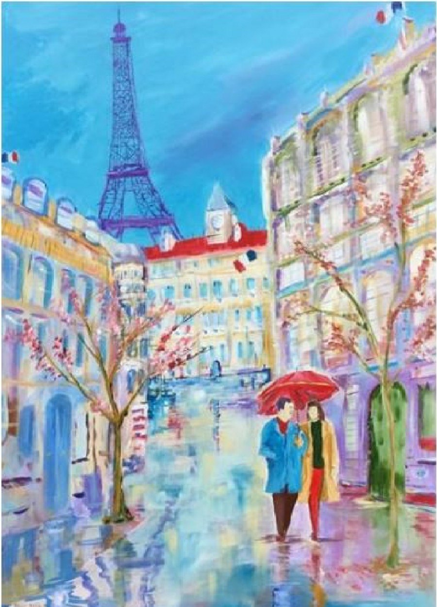 Blossoms in the Rain: A Parisienne Spring by David King