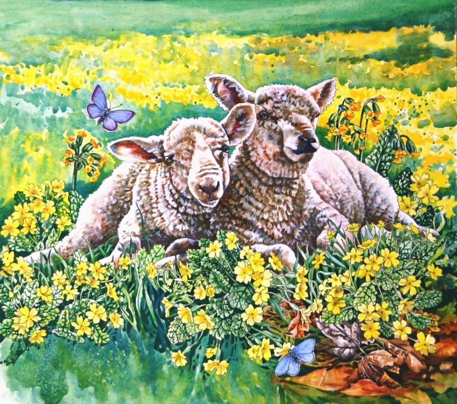 Spring Lambs Artist: Zoe Elizabeth Norman