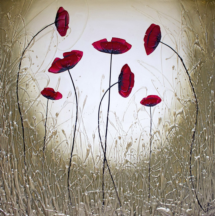 Honesty Poppies by CK Wood