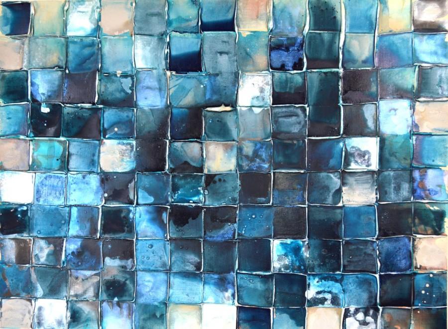 Indigo Mosaic #2 by Caroline Ashwood