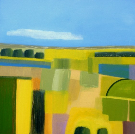 Abstract Surrey Landscape II by Jan Rippingham