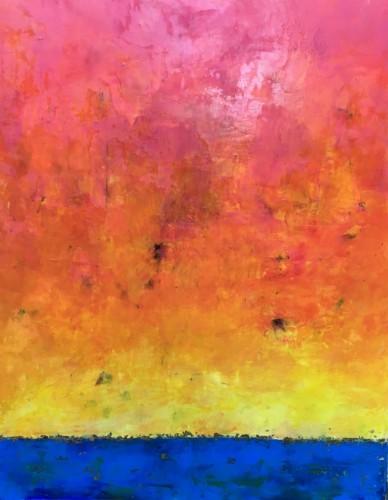 Orange Eclipse by Angela Dierks