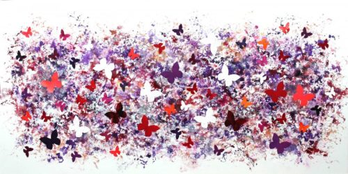 Butterfly Flutter Collage by Paresh Nrshinga