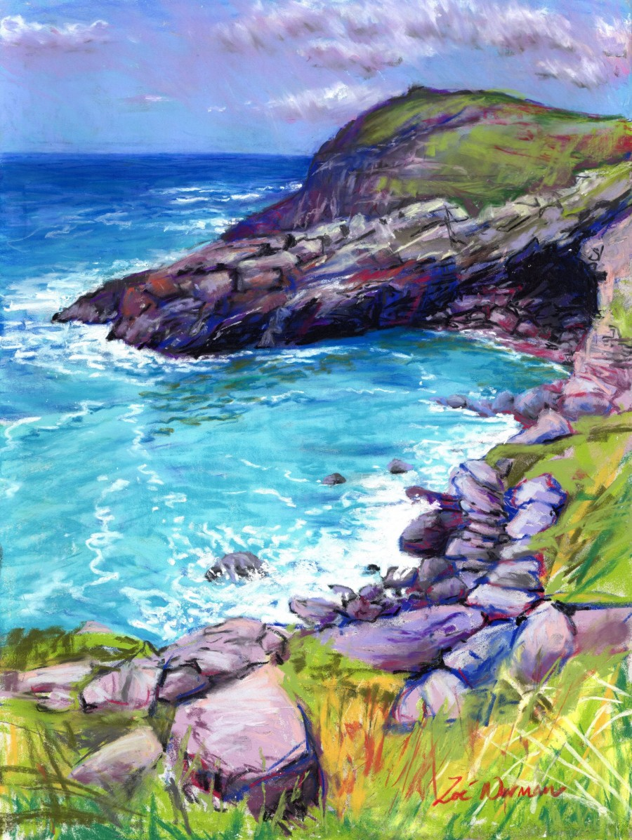 Cornwall Cove at Tintagel by Zoe Elizabeth Norman
