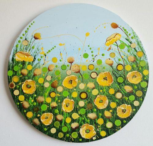 Yellow Poppies Field by Cinzia Mancini