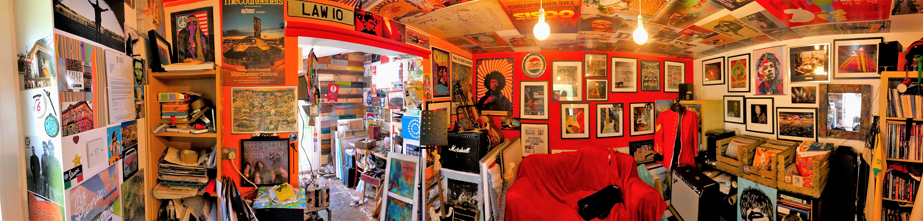 Panoramic View of Shaun Keefe's Studio