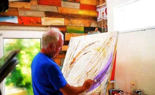 Shaun Keefe in His Studio