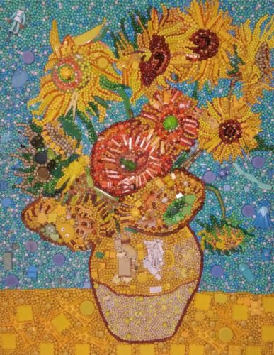 Sunflowers (reproduction) by Nora Nikolova