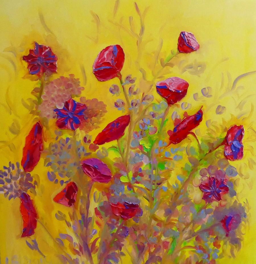 Golden Poppies by Lesley Blackburn