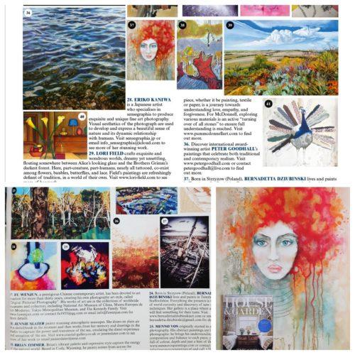 Bernadetta Dziubinski art in House & Garden magazine