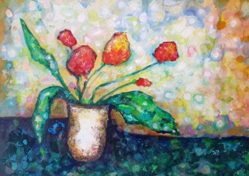 Tulips by Bernadetta Dziubinski
