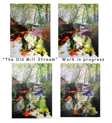 WIP - The Old Mill Stream by Paula Oakley