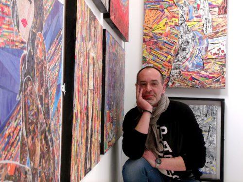 Robert Andler-Lipski in his studio