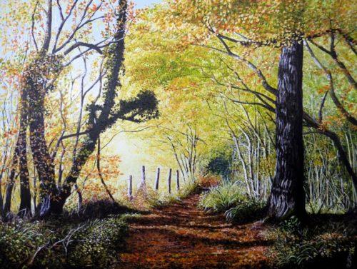 Autumn Path by Paula Oakley