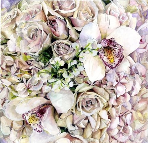 Roses And Orchids by Susie Lidstone