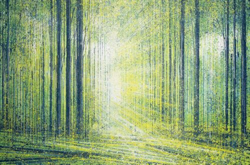 Light Shining Through Spring Trees by Marc Todd