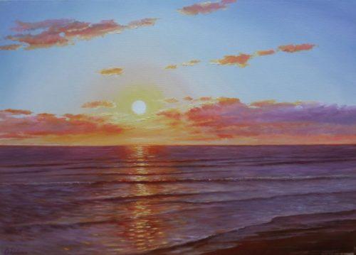 Evening at Sea by Oleg Riabchuk