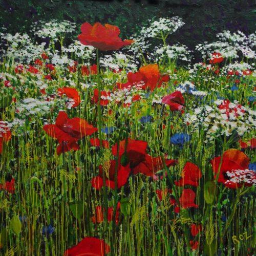 Wildflower Meadow 6 by Roz Edwards