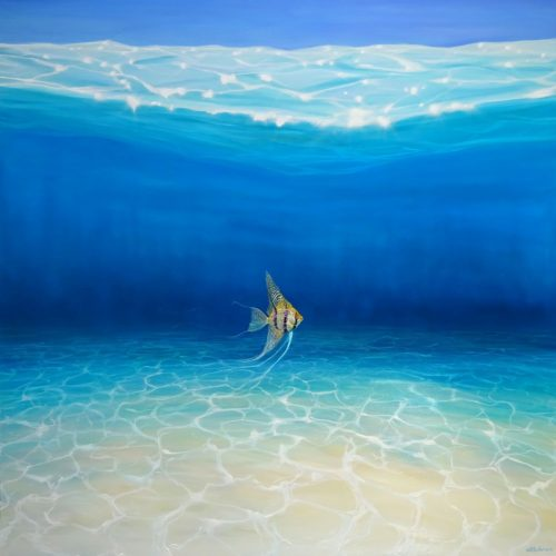 Angel Escapes to the Sea by Gill Bustamante