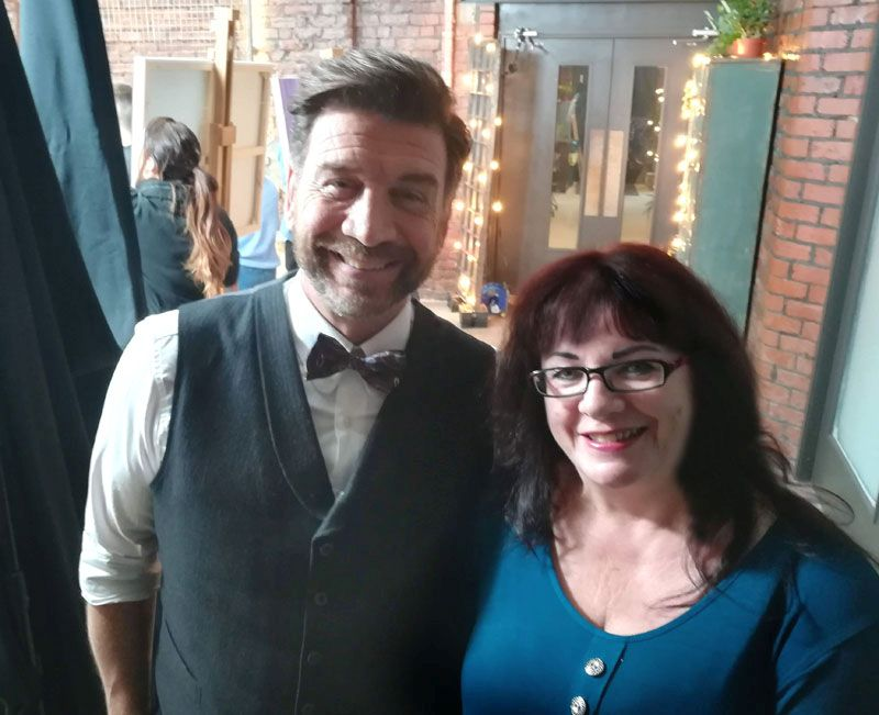 Gill Bustamante with Nick Knowles