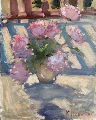 Still life with Peonies by Katerina