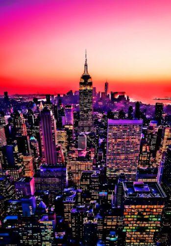 Neon Manhattan by Neil Hemsley