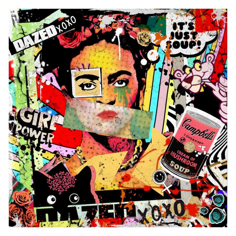 Frida Kahlo Digital Pop Art by Paula Vaughan