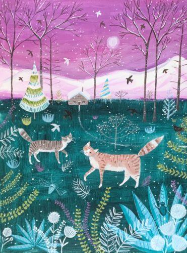 Cat walk in winter by Mary Stubberfield