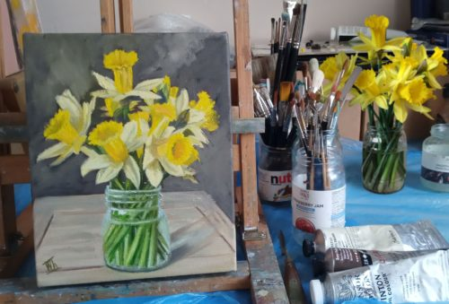 Spring Daffodils by Ira Whittaker