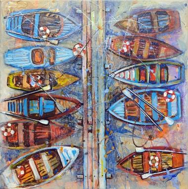 Multicolored Boats