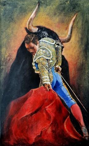 Vicious black-end bull symbol