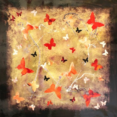 Golden Paradise (butterfly collage)