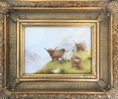 Highland Cattle Plaque