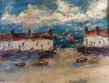 Boats High tide Harbour cottages