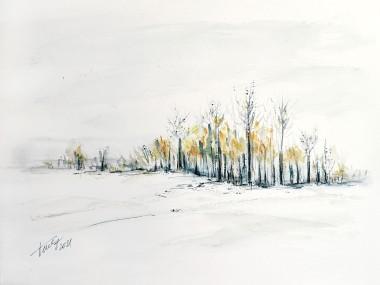 Winter Calmness - original watercolor painting