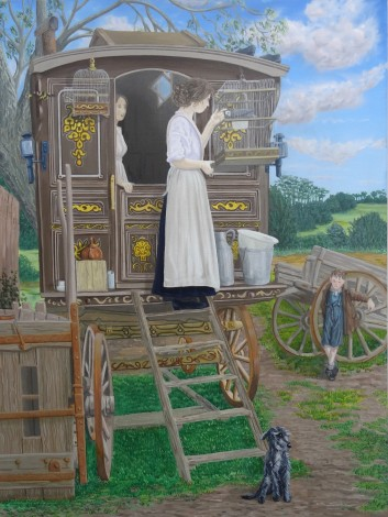 Stopping Place Gypsy caravan by artist Michael McEvoy