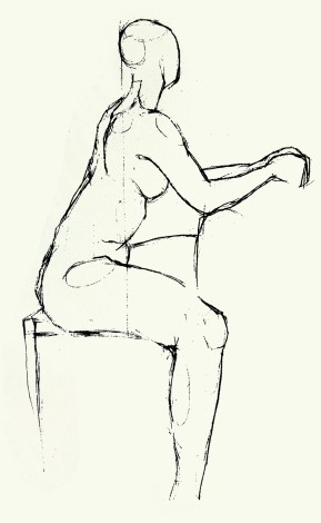 Small nude on chair main image