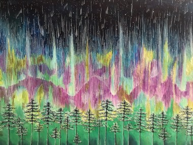 Enchanting Forest Northern Lights